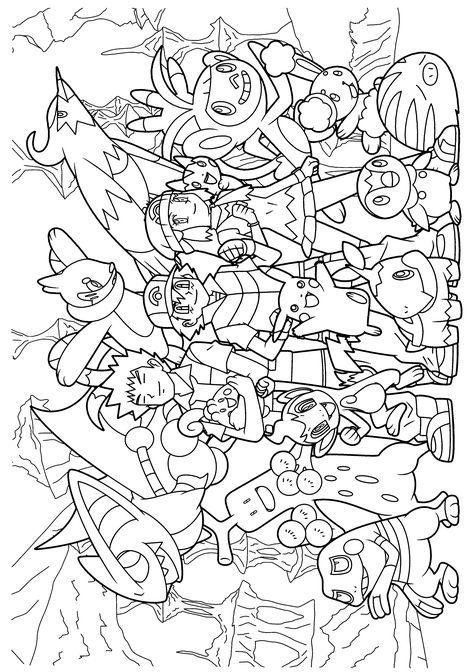 Pokemon Diamond Pearl Coloring Pages Pokemon Coloring