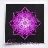 Meditatiekaart Stardust purple 9 x 9 cm - www.droomcreaties.nl