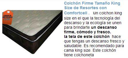 Colchón king size con colchoneta con su soporte super firme te dará el descanso que tanto deseas  http://www.colchonesdormilon.com.mx/colchones.php?id_tamano=5
