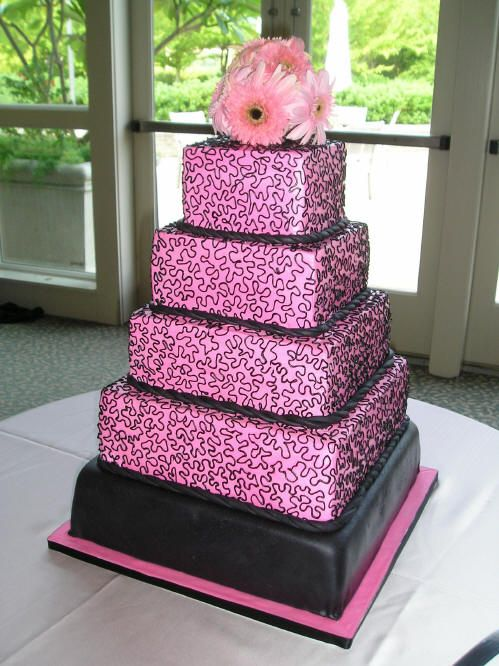 black and pink wedding cake ideas 31 best images about pink amp black weddings on 11819