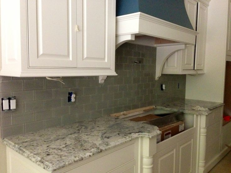Design Kitchen Layout Cabinets Kitchen Backsplash, Glass Subway Tile. Emser Morning Frost