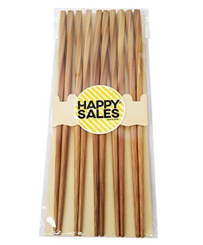 Chopsticks-5-Pairs-Japanese-Best-Gift-Twist-9-Inch-Natural-material-Kichen-New