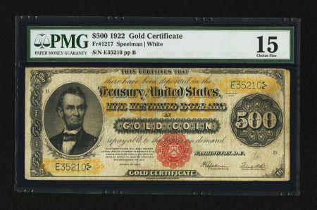 u.s. five hundred dollar bill   100 Dollar Bill Gold Certificate http://www.paper-money.net/five ...