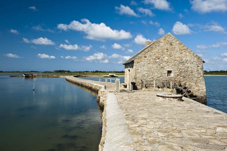 Ile d'Arz , restored tidemill - Golfe du Morbihan Brittany