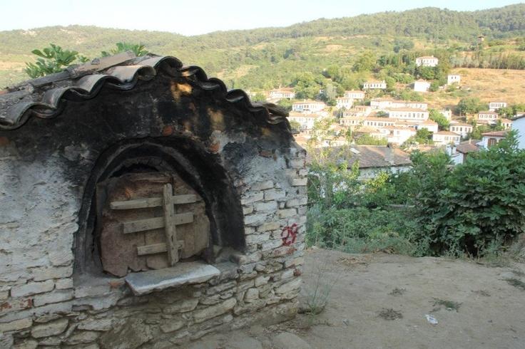 Oven outside a house