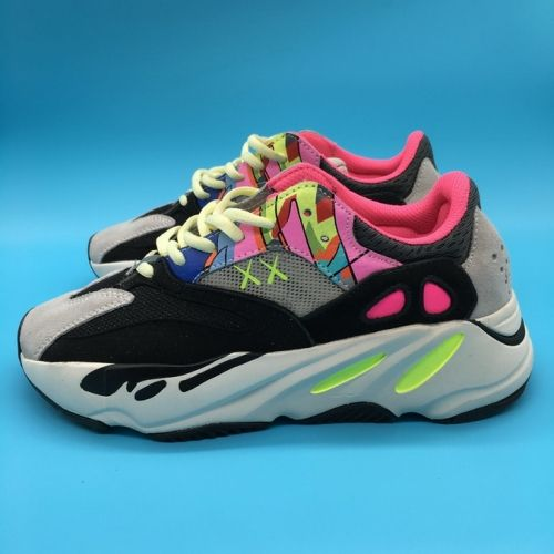 ec496ff5963 Discount Custom KAWS x adidas YEEZY BOOST 700 Wave Runners Grey  Black-Yellow-Pink - Mysecretshoes