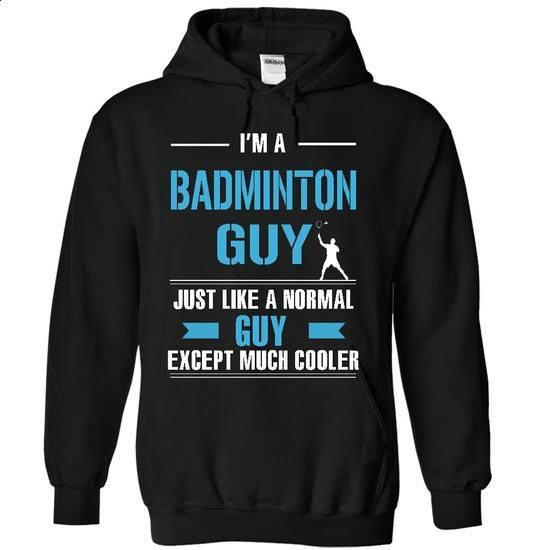 Cool Badminton guy - #sleeveless hoodies #capri shorts. BUY NOW =>…