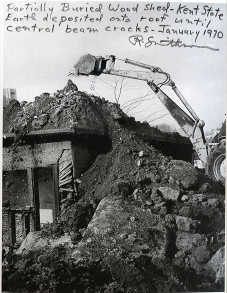 Robert Smithson Partially Buried Wood Shed 1970 A Dump