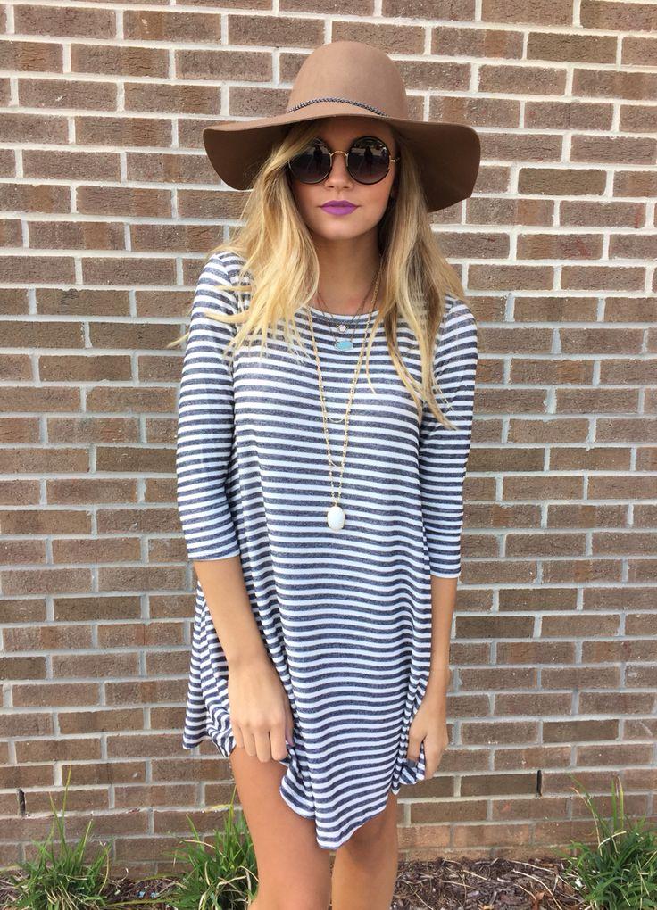 Stripe t shirt dress #swoonboutique
