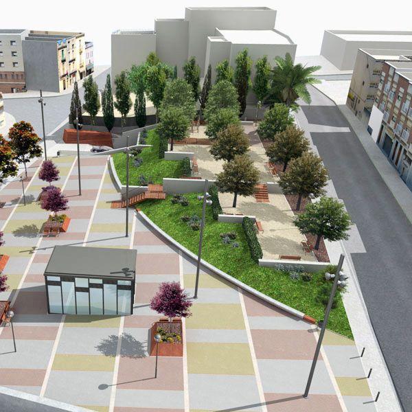Espacio Público, SOB arquitectos by Bernat Sanz, via Behance