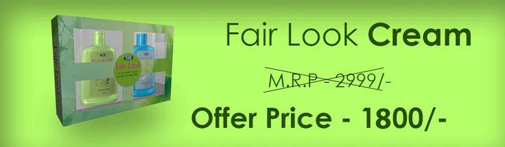 Fair Look lotion Ayurvedic Preparation for Fair and Beautiful skin. Fair Look is an anti marks fairness cream. Used For: Removing Anti marks from your skin, dark spots on face, pimples on face, dark circles under eyes etc...