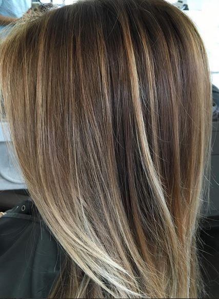 subtle bronde and blonde highlights