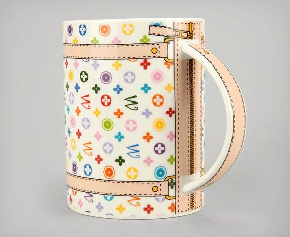 The Monogram Bag Mug is Even Better Than the Real Thing #coffee #coffeecup trendhunter.com