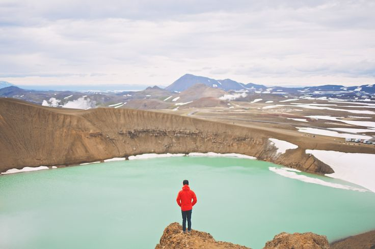 Viti - a volcano crater now lake in Iceland