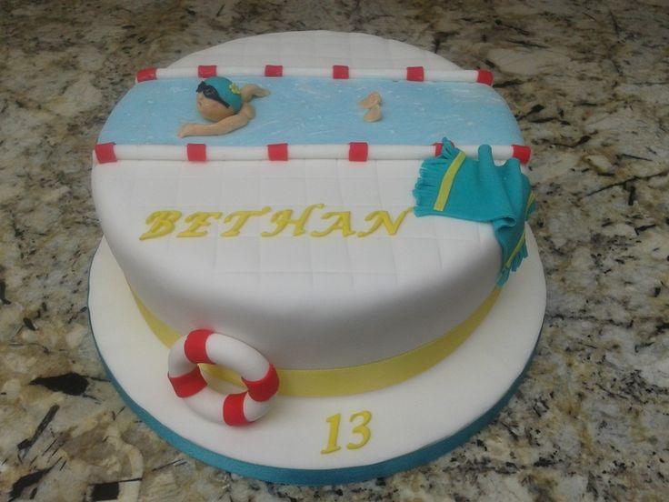 swim cake | swimming cake