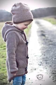 Praktische Kinderjacke für Herbst und Winter - Nähanleitung und Schnittmuster via Makerist.de