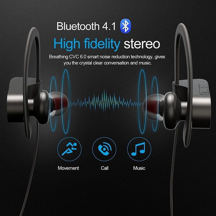 Wireless Bluetooth Headset Stereo Earphone Sport Headphone Sweatproof Earbuds US #UnbrandedGeneric