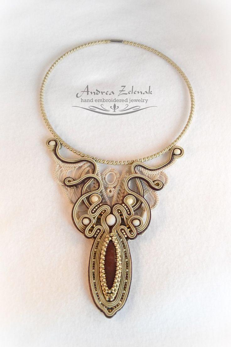 Soutache necklace - Andrea Zelenak S0437