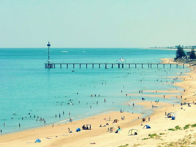 Brighton Beach Adelaide city Australia • Adelaide's beaches