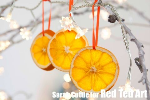 How to dry orange slices|Red Ted art