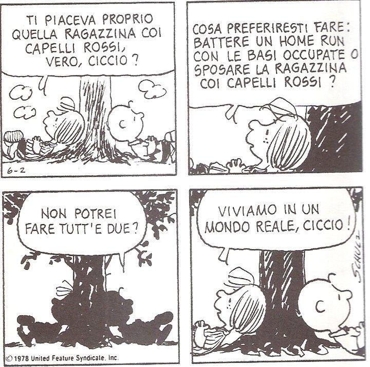 Viviamo in un mondo reale, ciccio! _ Snoopy