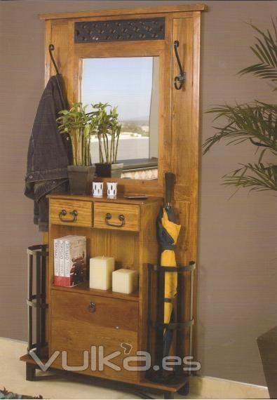 M s de 25 ideas incre bles sobre mueble r stico mexicano en pinterest sillas mexicanas - Mueble recibidor rustico ...