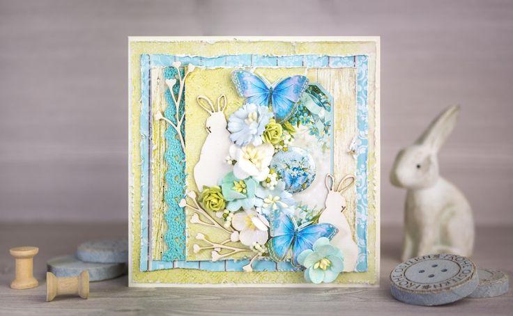 Dianka Kreativity: EASTER CARD: Zajíc kam se podíváš, UHK Gallery - Loft Herbs, Lemoncraft - Forget Me Not