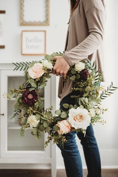 Wild Rose + Eucalyptus Wreath – Lorraine's Cottage