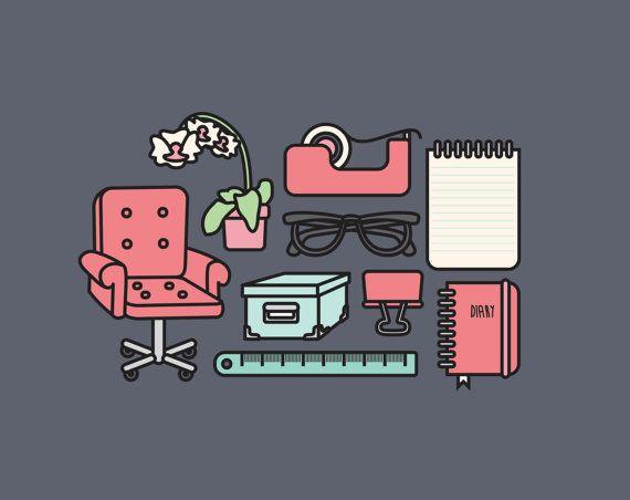 Hohe Qualität-Vektor-Cliparts. Eine große Reihe von Office-ClipArts! Niedliche Office-Vektor-Cliparts. Kawaii Arbeitsgruppe Clipart. Kawaii Clipart! Eine wunderschöne Reihe von schönen Office-Symbole! Perfekt zum Erstellen von Grußkarten, Einladungen, Geschenkpapier und Schreibwaren, Dekoration, Ihrem Blog oder ihrer Website, entwerfen Plakate und Room decor. Einsetzbar für Digital- oder drucken. Ideal für Geschenkkarten und Geschenkpapier, Scrapbooking und Blogs oder Websites.  Diese…