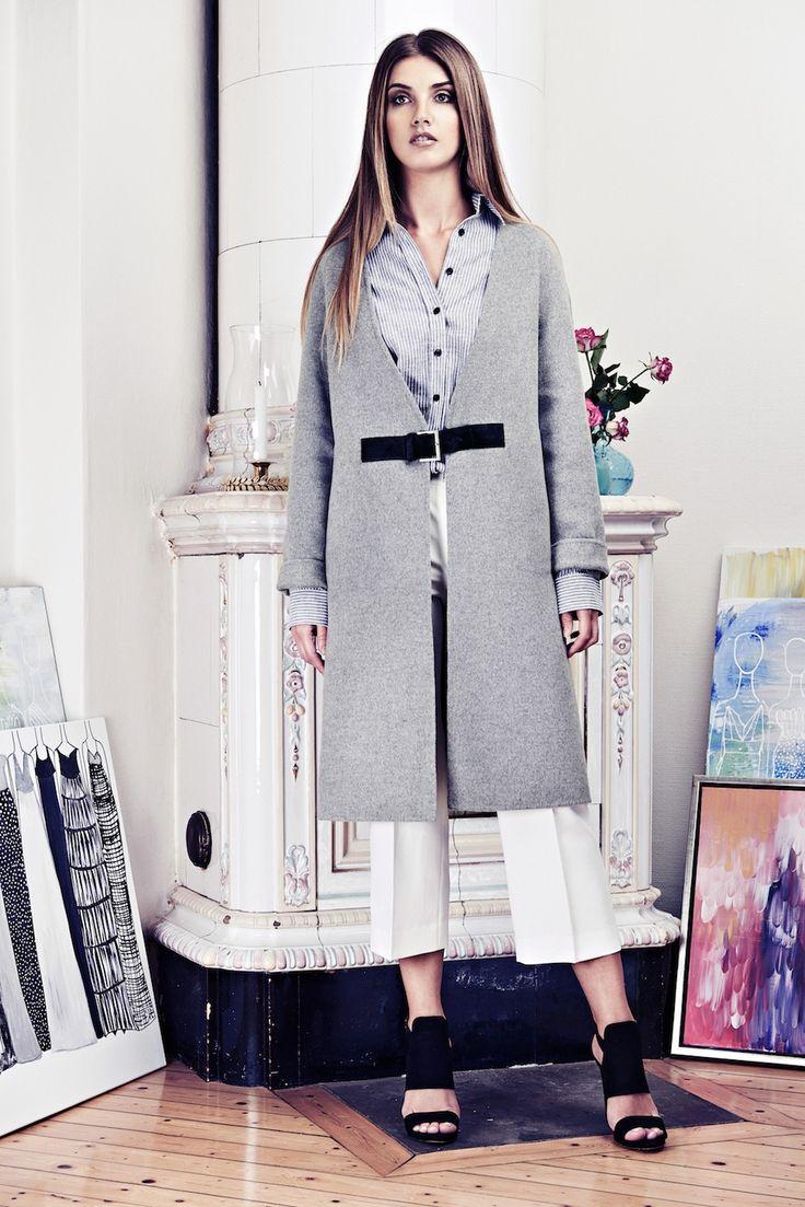Lookbook SS15 Viktoria Chan fashion label, Scandinavian fashion, Spring coat. Cashmere coat