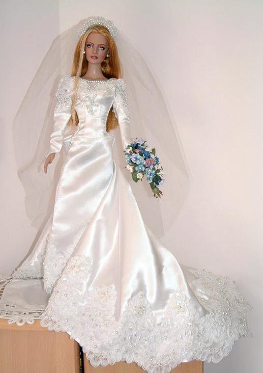 2018 best wedding dresses for dolls images on pinterest for Barbie wedding dresses for sale