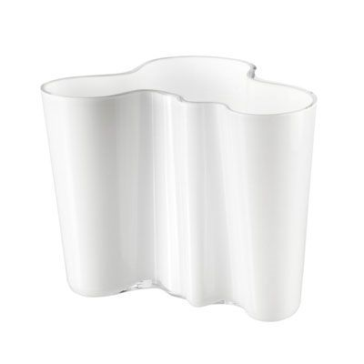 Alvar+Aalto+Vase+Hvit,+Iittala