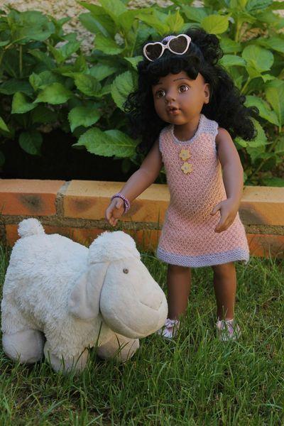 Tuto trapeze dress doll gotz corolle tricot poupee - Tuto dressing ...