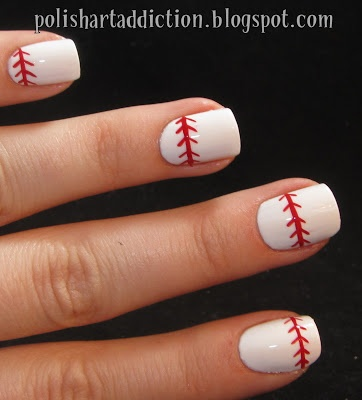 Polish Art Addiction: Baseball Nails