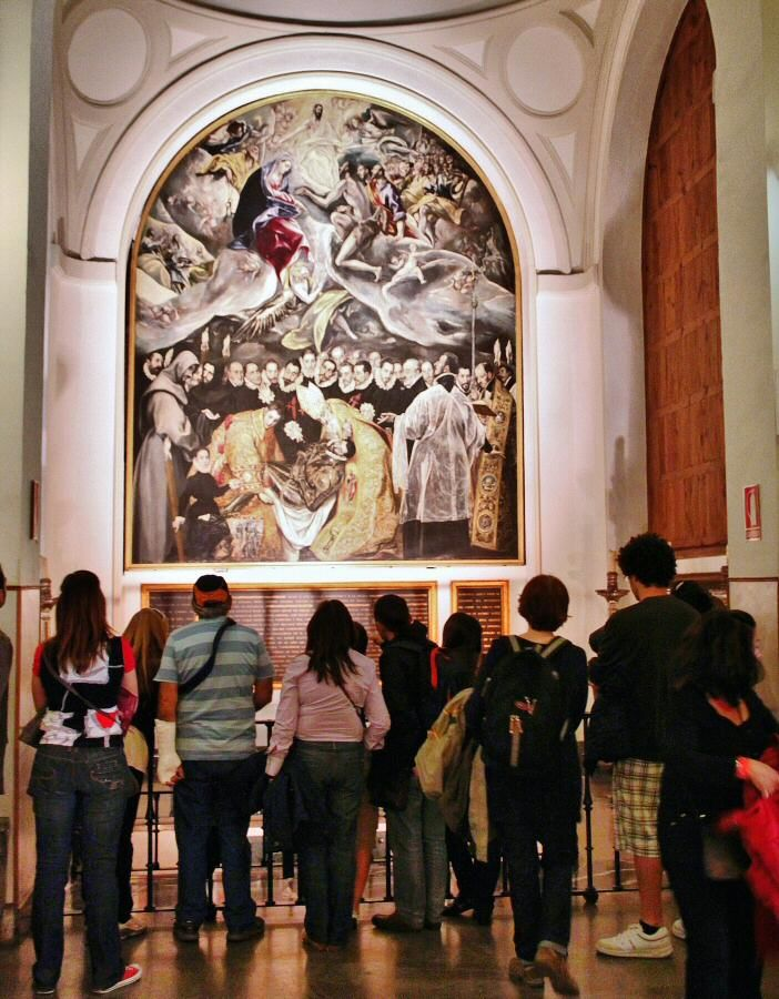 El entierro del Señor de Orgaz en la iglesia de Santo Tomé de Toledo