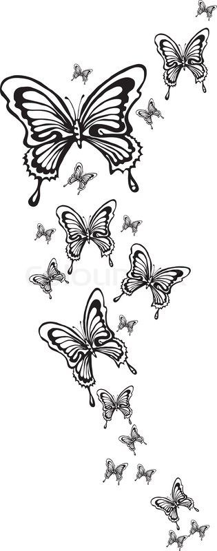 4540241-ornamental-butterflies-made-in-eps.jpg (315×800)