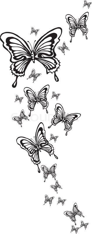 4540241-ornamental-butterflies-made-in-eps.jpg (315×800)