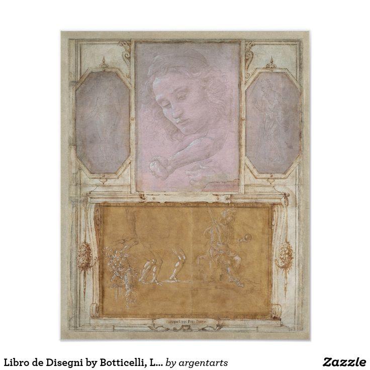 Libro de disegni by botticelli lippi vasari poster