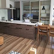 Kitchen,as,造作,ウォルナット,カウンター下収納,リクシルに関連する他の写真