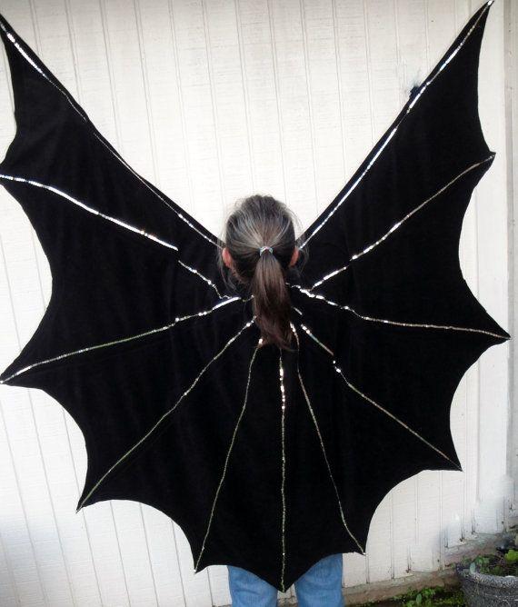 Vintage Bat Wings Costume For Halloween With Cape Black & Vintage Bat Costume - Meningrey