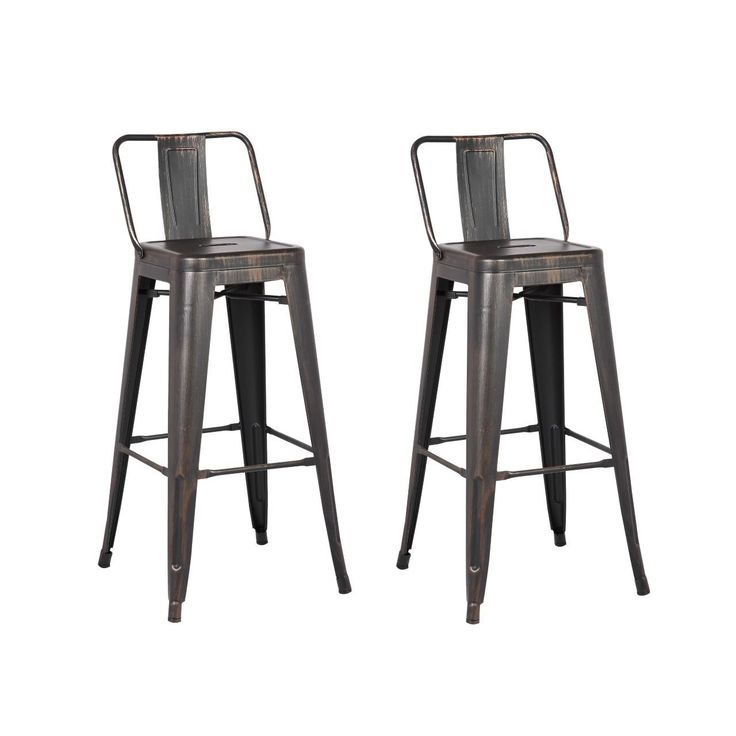 AC Pacific Steel 24 Inch Bar Stool