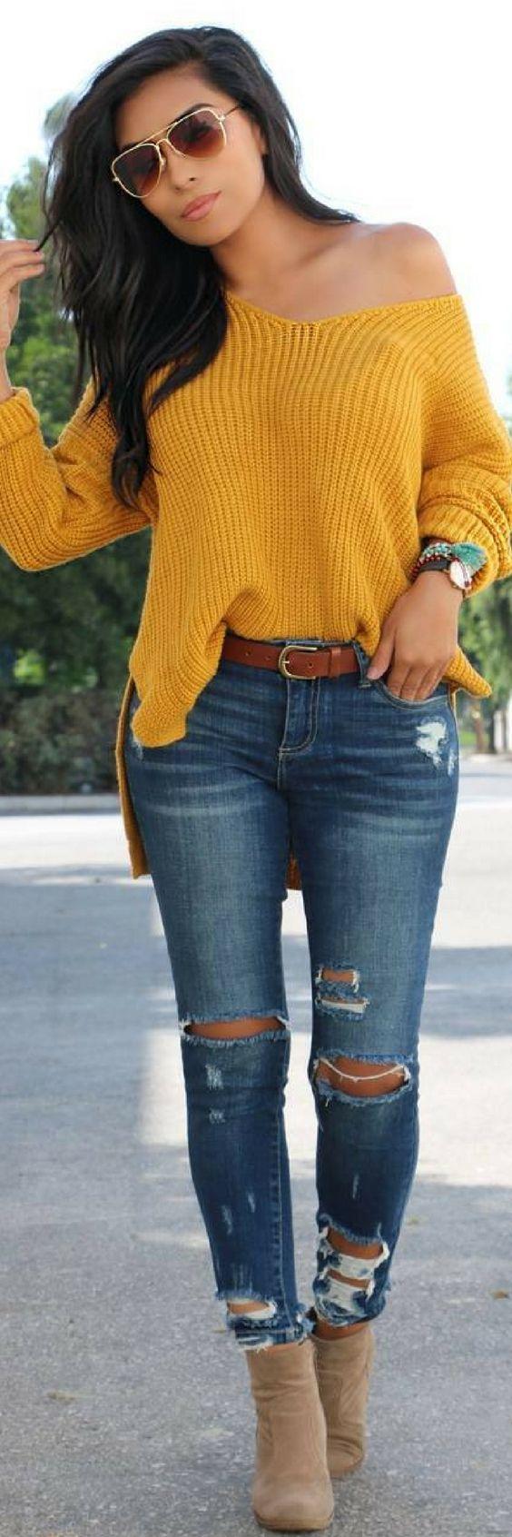 Best 25  Mustard sweater ideas on Pinterest | Mustard sweater ...