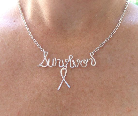 Survivor Necklace Breast Cancer Awareness by deannewatsonjewelry, $19.95