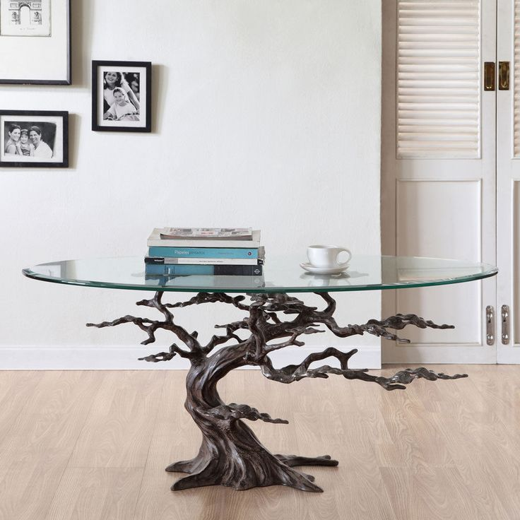 Best Tree Coffee Table Ideas On Pinterest Tree Stump Table - Fallen branch is repurposed to create beautifully unconventional shelf