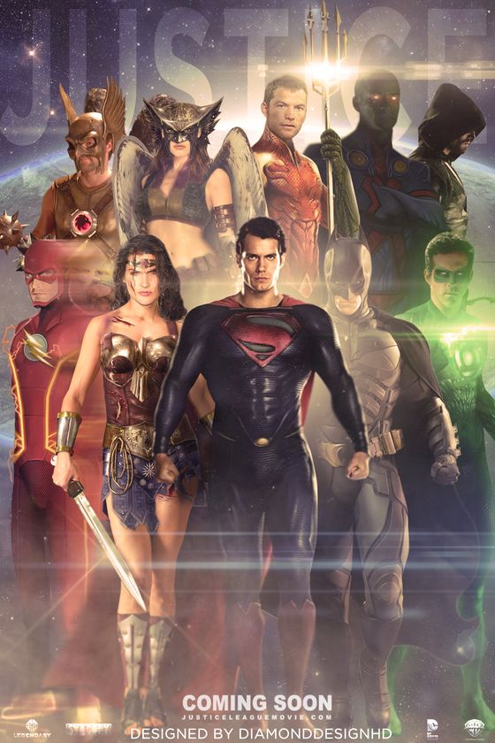 The only problem with this poster is Batman should be in front...and well, there is no Justice League movie.