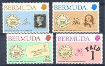 #Бермуды 1980 Хилл. Первые марки 4 м. - 60 р. #  Michel #  378/81.Оплата - карта Сбербанка. Состояние - отличное.UPU история Почты