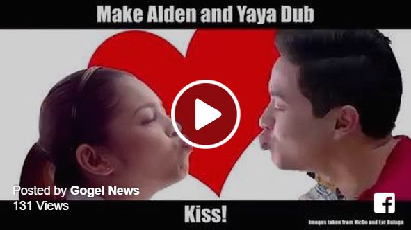 It's time to play! How to make Alden Richards and Maine 'Yaya Dub' Mendoza kiss? Just press play, pause to try and make Alden and Yaya Dub kiss. Post a screenshot and comment if you made them kiss! AlDub Video Game:Just press pause to try and make #Alden and #YayaDub kiss. #AlDubKissGame Post a screenshot and comment if you made them kiss!VIDEO CR: Nico Nicomedes Posted by Gogel News on Thursday, October 1, 2015 Video created by Nico Nicomedes.