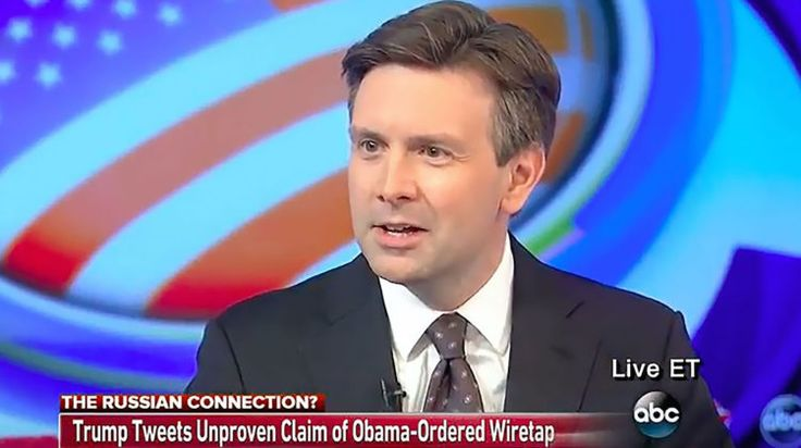 Josh Earnest Won't Rule Out Wiretap: 'I Don't Know' ~ Former press secretary becomes third Obama official to avoid denying Trump surveillance