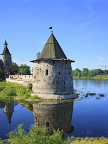 Pskov Kremlin from the Pskova River, Pskov, Pskov Region, Russia