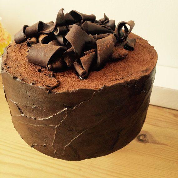 Fake Chocolate fudge cake by Fakecakebake on Etsy